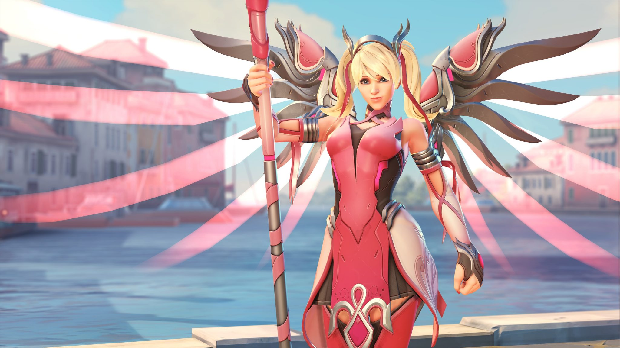 Overwatchs leads on the topic of Pink Mercy charity event