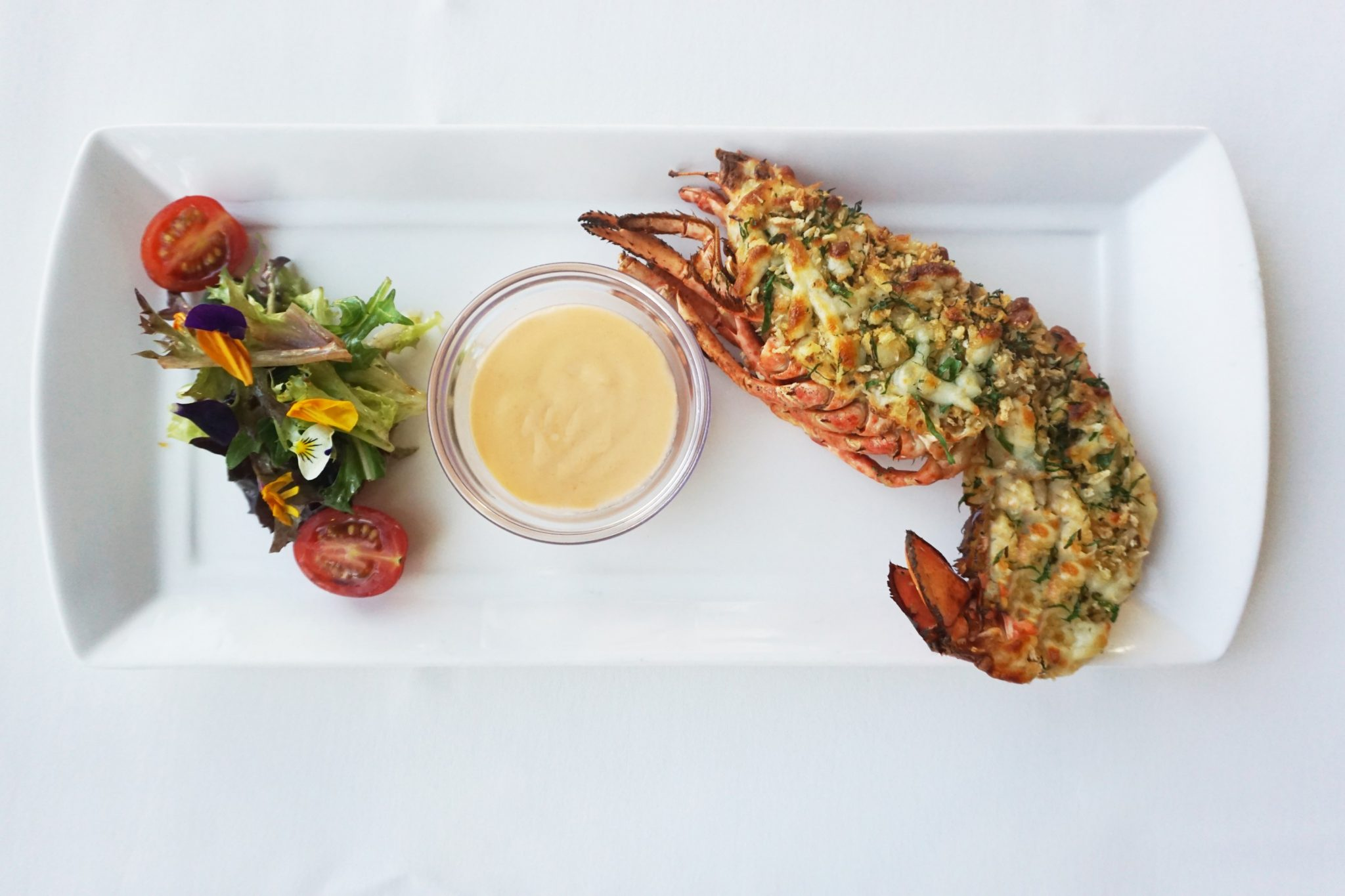 Lawry's Lobster Thermidor stuffed with Carrots and Mushrooms