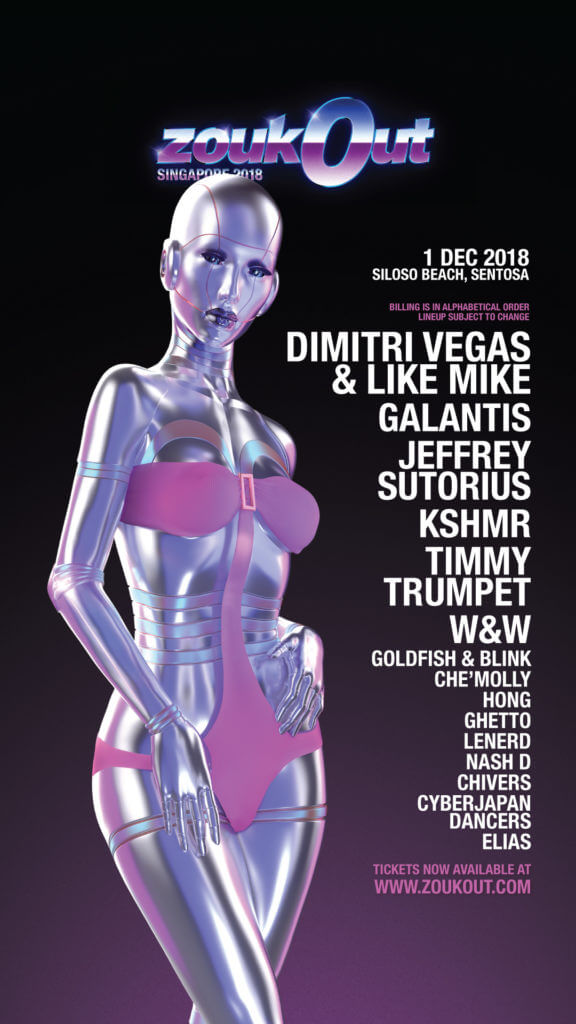 ZoukOut 2018: Line-up