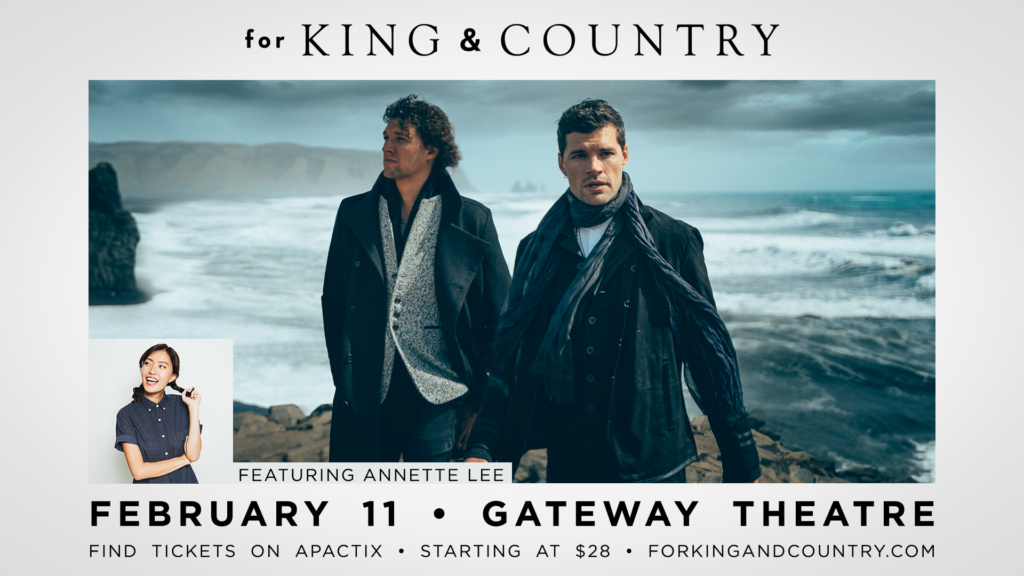 for KING & COUNTRY: SG