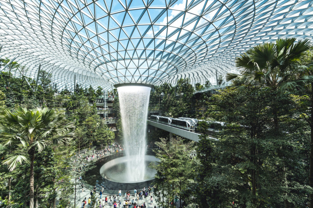 Jewel Changi Attraction:  Rain Vortex