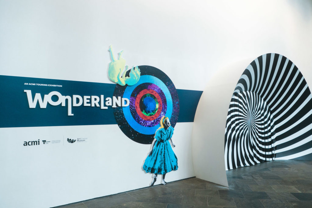 Wonderland exhibition - entrance