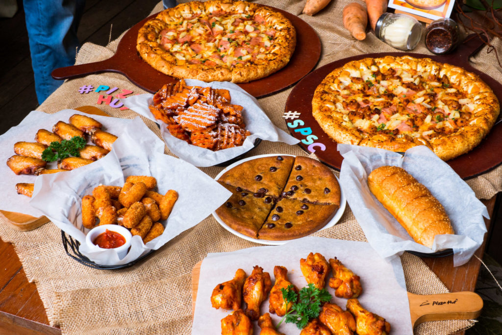 pizza hut sweet potato - display spread