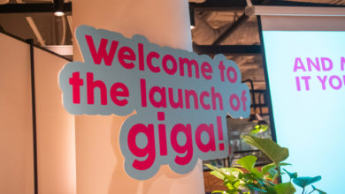 giga! Telco Launch Event - Welcome Sign