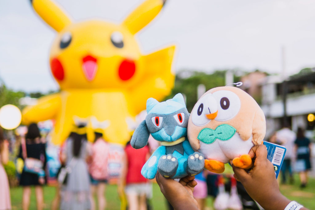 Pokemon Carnival - Pokemon plushies