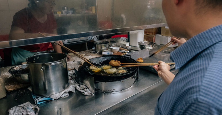 Maxwell Food Centre - fry-it-yourself fritters