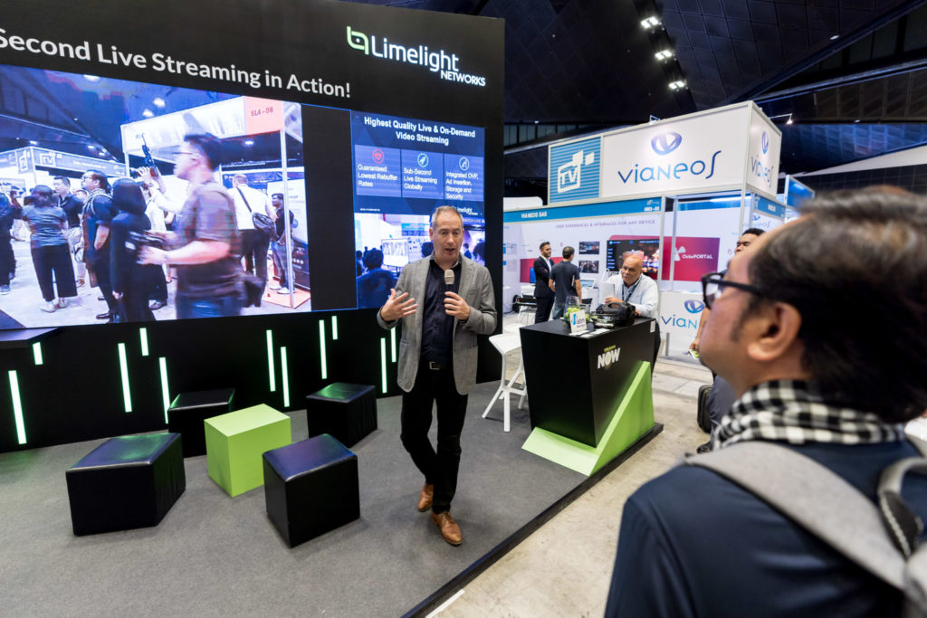 Limelight Networks Interview: Booth Crowd