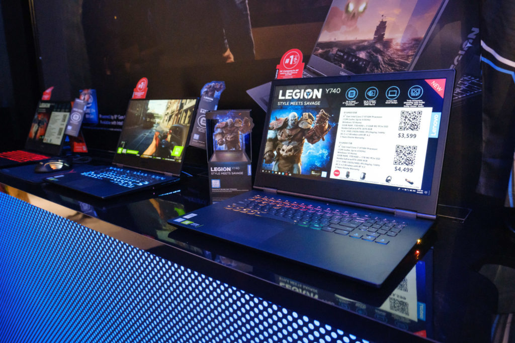Lenovo flagship store opening - gaming laptops