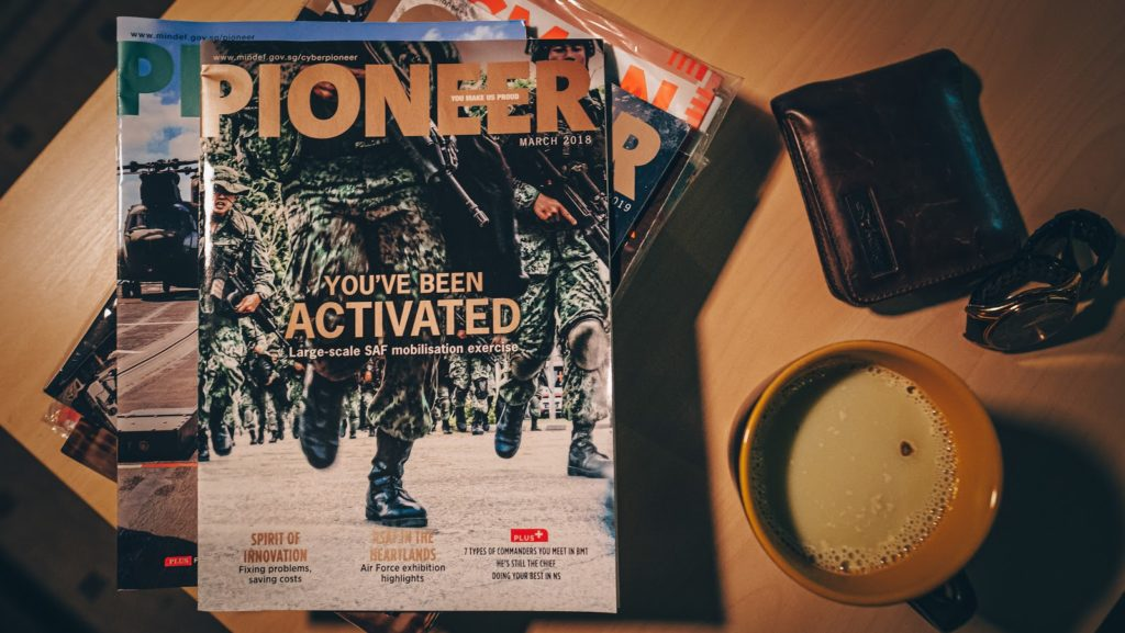 Reservist article - pioneer magazine