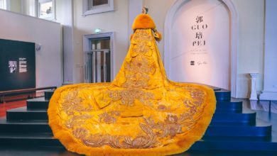 Guo Pei Exhibition - Yellow Queen (back view)