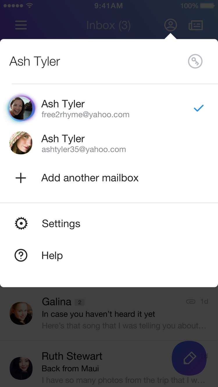 Yahoo Mail App_Mailboxes