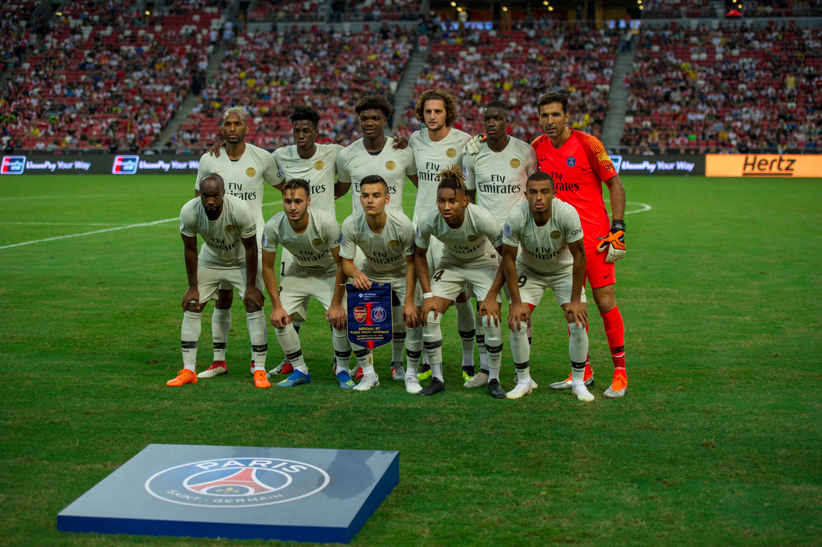 Arsenal vs PSG - PSG Lineup