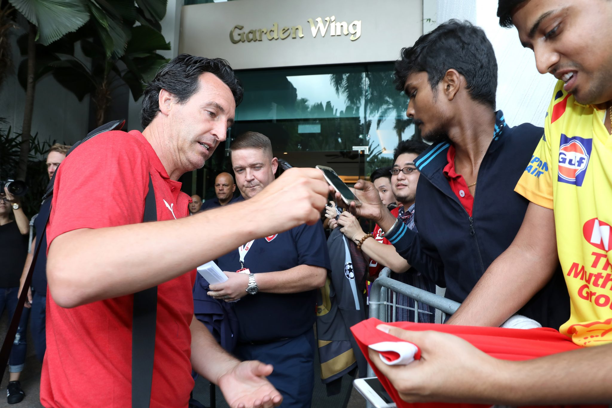 ICC Singapore: Coach Unai Emery
