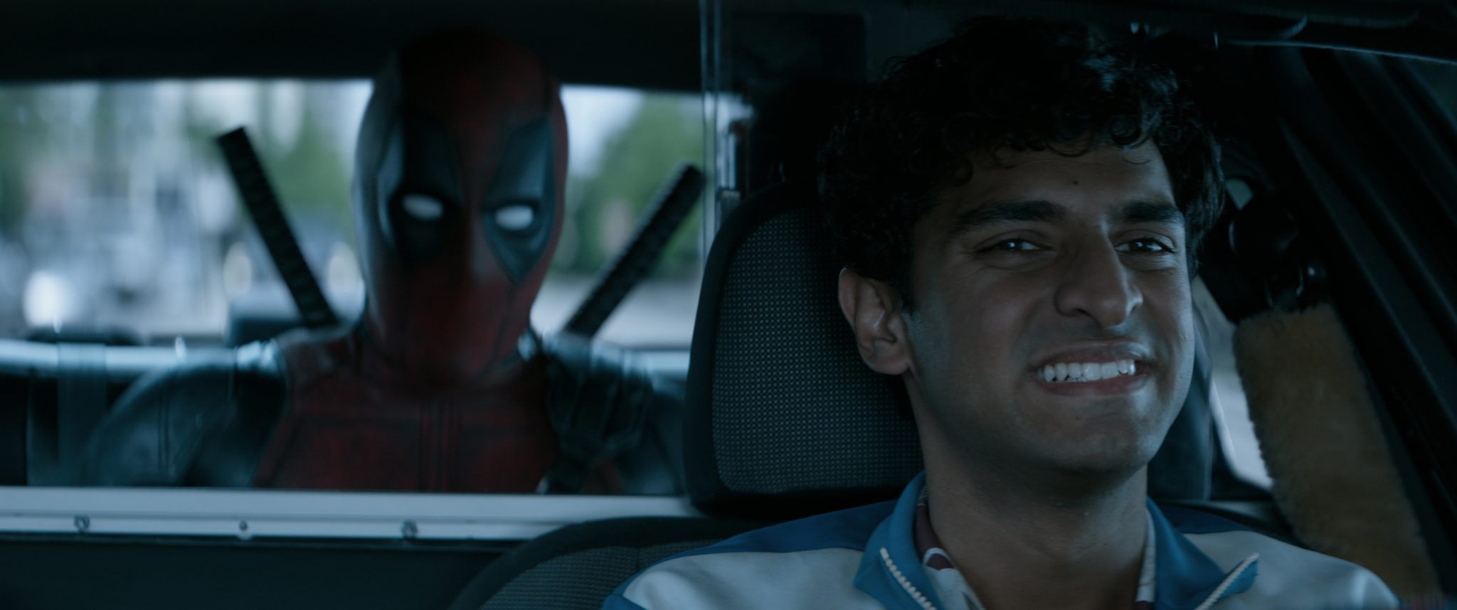 Deadpool 2: Ryan Reynolds (Deadpool) and Karan Soni (Dopinder)