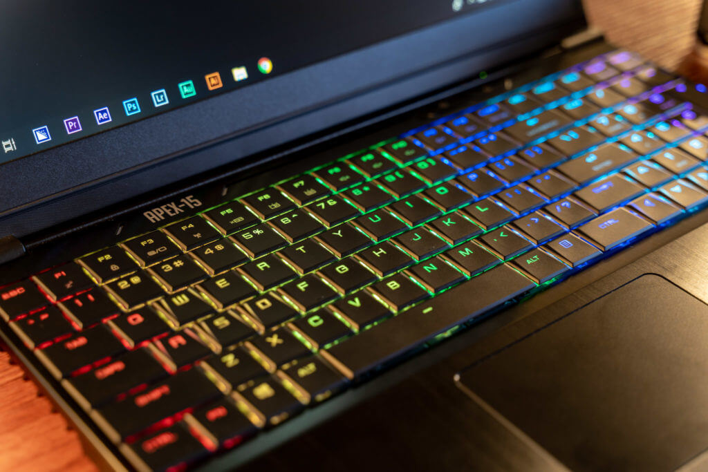 Apex-15 Review: Keyboard