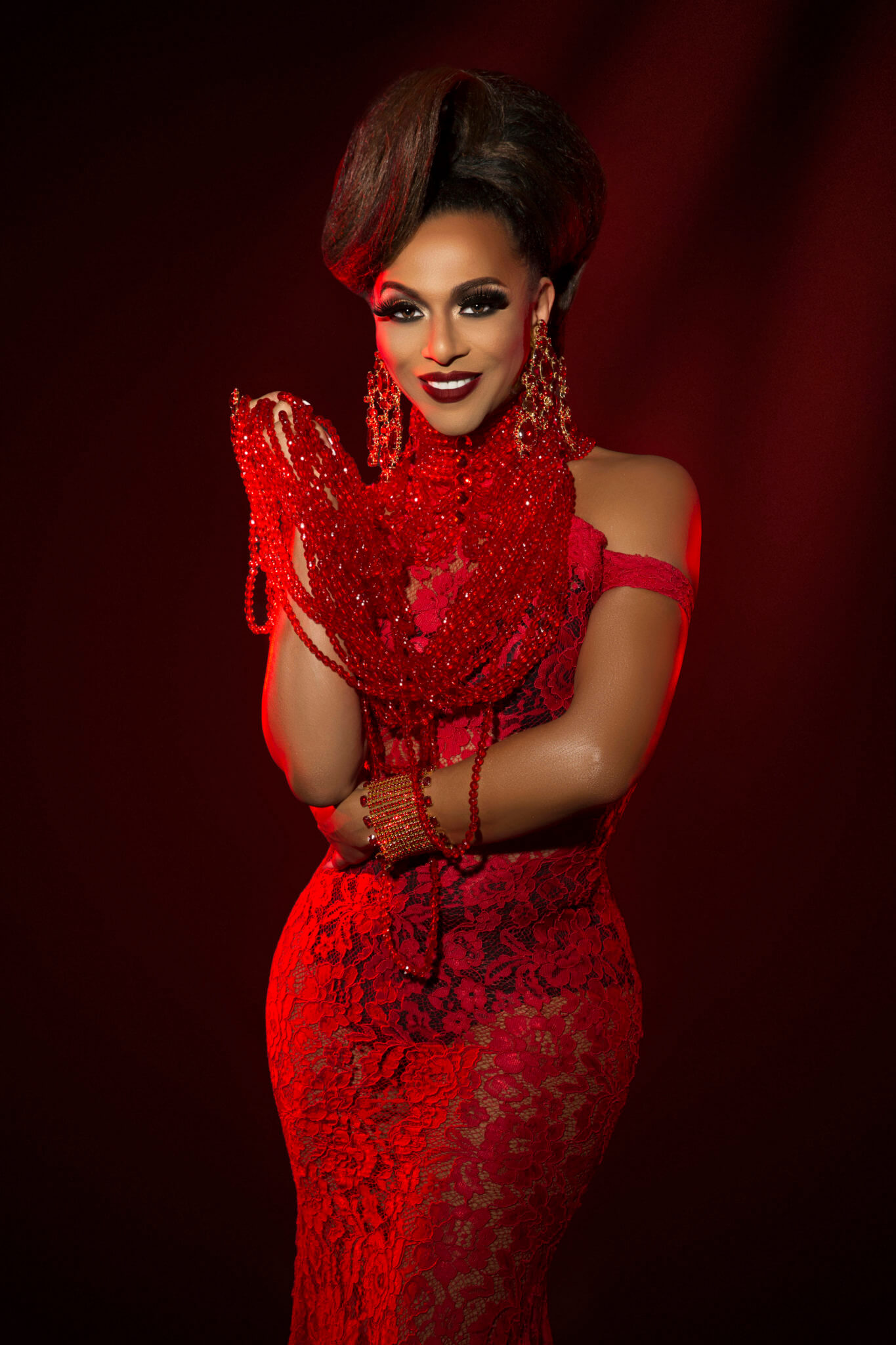Shangela: Red Lace